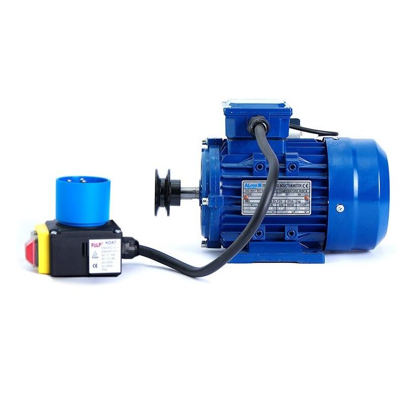 Motor de 2,2 kw / 3 cv monofásico 220v alto par de arranque para hormigonera con polea y cable